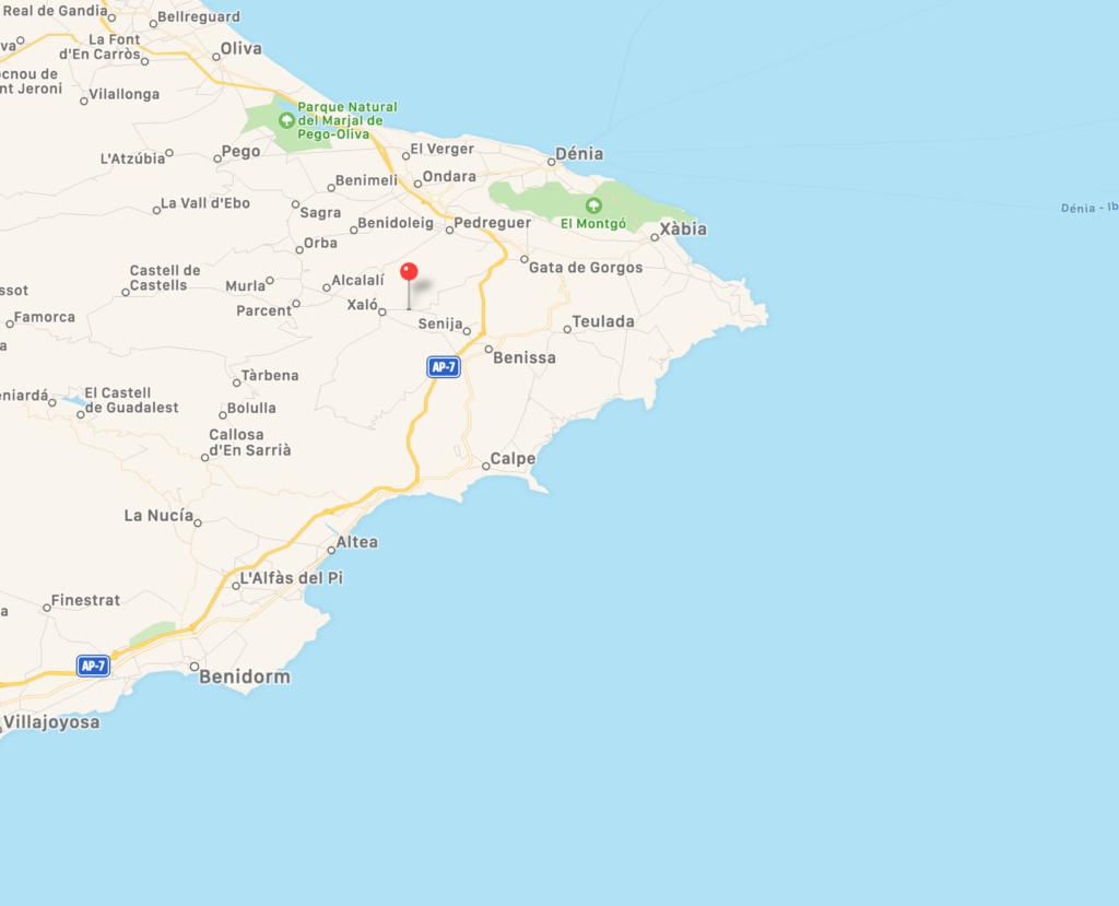 Monte Puchol: Reclamaciones Marina Alta